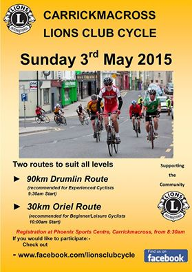 Carrickmacross Lions Club Cycle for Charity 2015