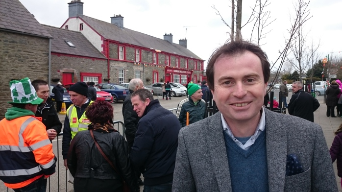 Sean Conlan T.D. at the Inniskeen Parade Photo:  © Michael Fisher
