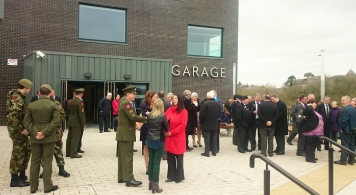 Current and former Defence Forces members gather at Monaghan Education Campus Photo:  © Michael Fisher