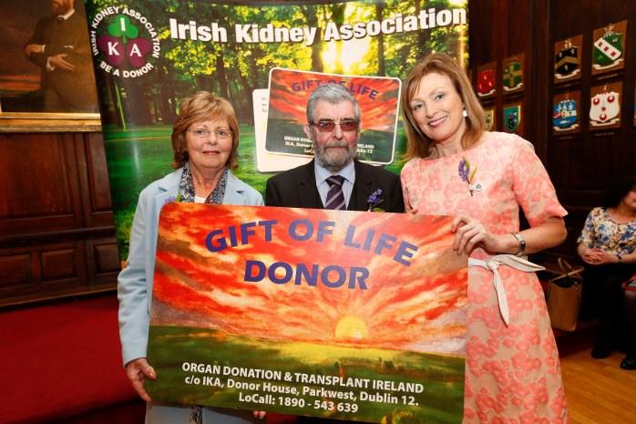 Irish Kidney Association Monaghan Branch Members Margaret McCague (Scotstown) and Martin Thornton with Donor Awareness Ambassador Mary Kennedy (right)   Photo © Conor McCabe Photography