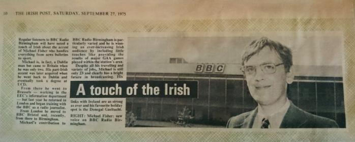 The Irish Post: September 27th 1975 Words & Photo: Brendan Farrell