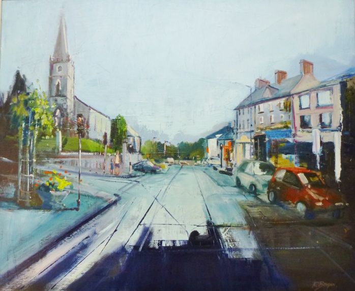 Main Street Carrickmaross Painting Photo: © Kate Beagan