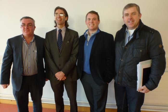 Carrickmacross-Castleblayney MD Councillors PJ O'Hanlon, Aidan Campbell, Colm Carthy and Padraig McNally Photo © Michael Fisher
