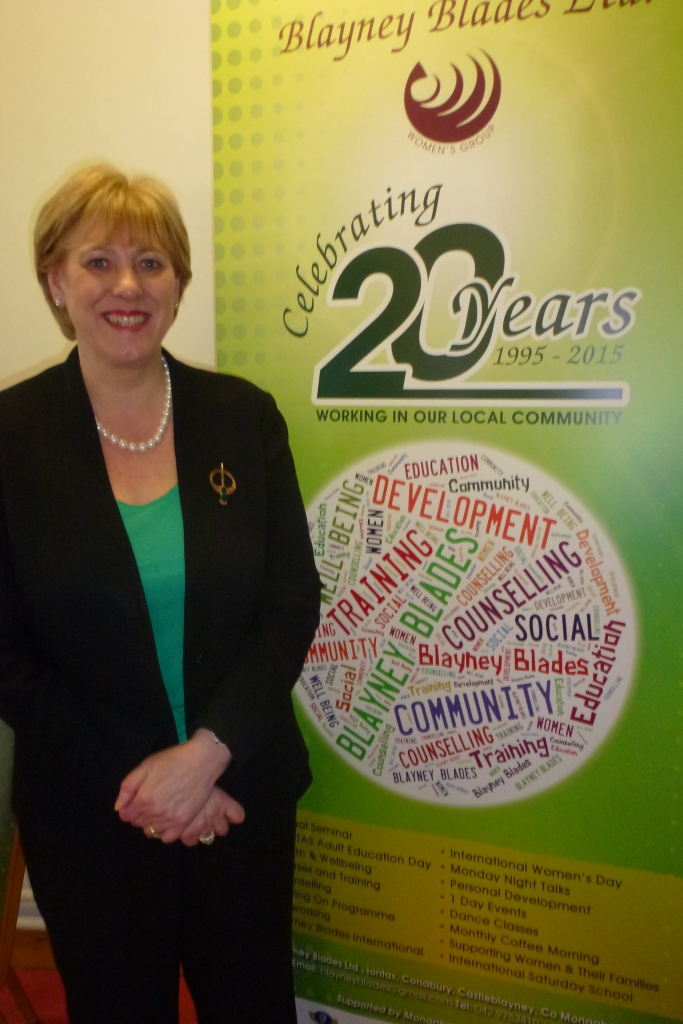 Heather Humphreys TD at Blayney Blades celebration in Castleblayney  Photo: © Michael Fisher