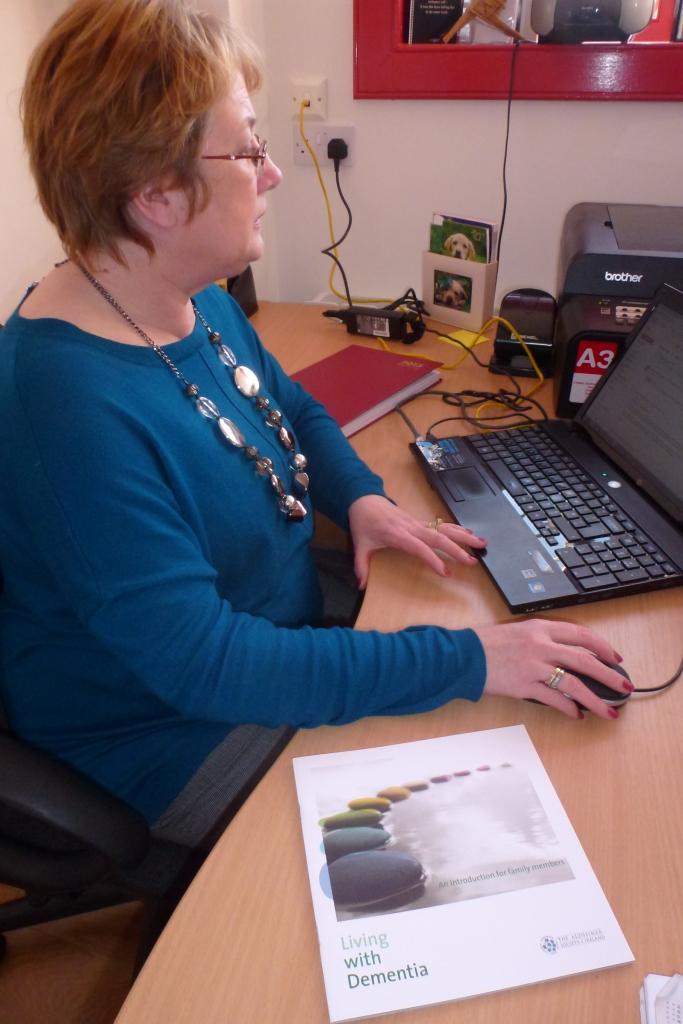 Maeve Montgomery, Dementia Adviser, Alzheimer Society, at Carrickmacross Wokhouse  Photo: © Michael Fisher