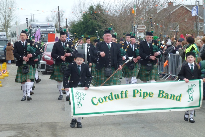Corduff Pipe Band at the Inniskeen St Patrick's Parade Photo:  © Michael Fisher