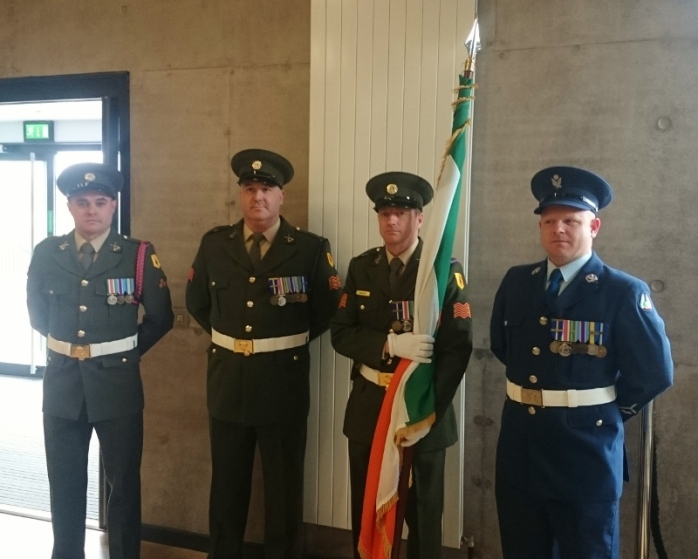Colour Party escorting the tricolour Photo:  © Michael Fisher