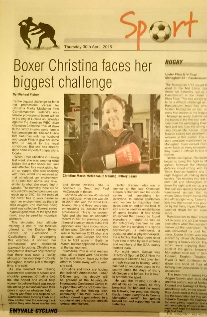 Northern Standard Thursday 30th April p.40