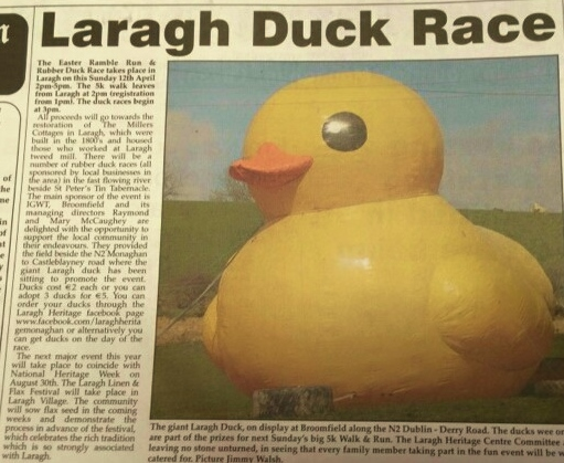Laragh Duck article Northern Standard Photo: Jimmy Walsh