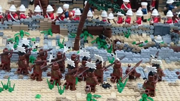 Lego display Carrickmacross: Battle of Rorke's Drift http://www.lego.com/en-gb  Photo:  © Michael Fisher
