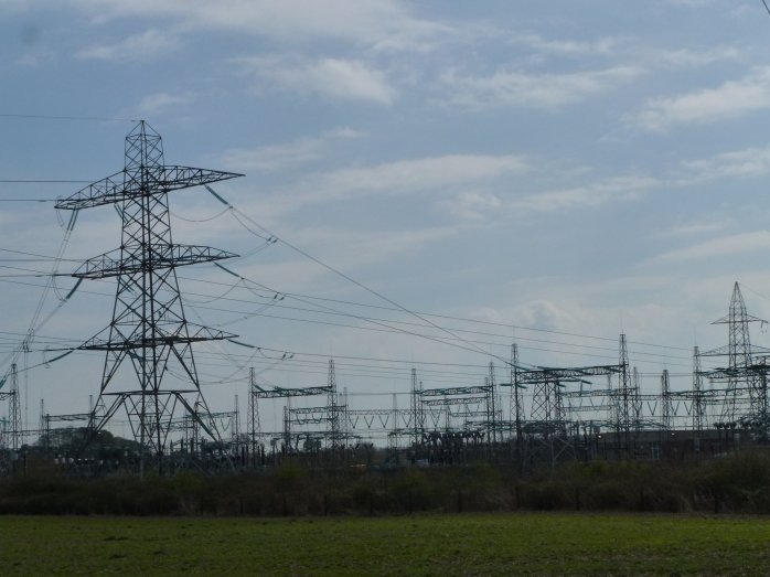 EirGrid substation at Ballykelly, Co. Louth near Inniskeen for North/South Interconnector Photo © Michael Fisher
