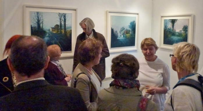 Kate Beagan at the opening of her exhibition at the Doorway Gallery  Photo:  © Michael Fisher