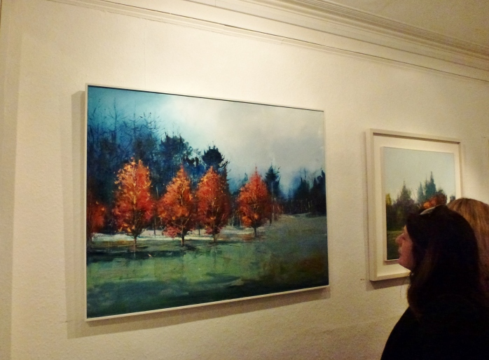 Painting by Kate Beagan  'Perbeach in Winter' €2,600.00 Photo:  © Michael Fisher