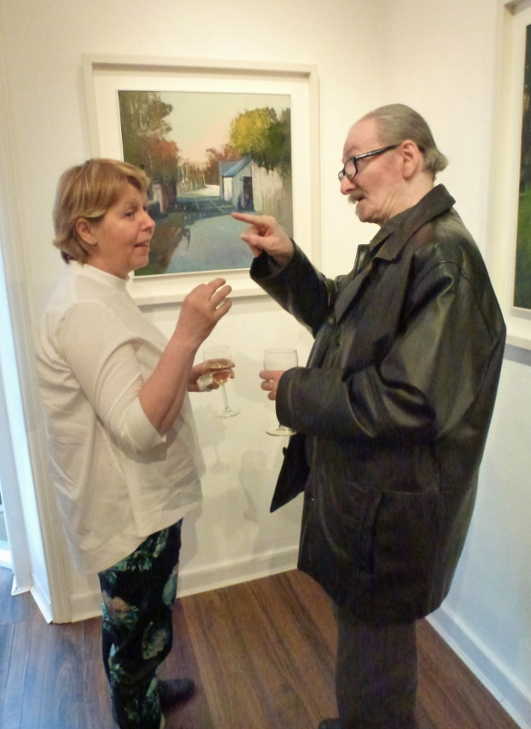 Kate Beagan and Joseph Murphy, Dublin, at The Doorway Gallery exhibition Photo © Michael Fisher