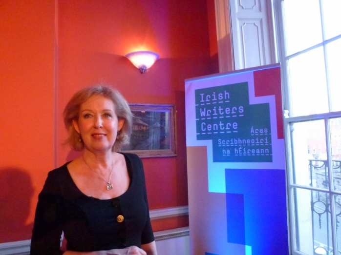 Mary O'Donnell at the launch of 'Those April Fevers'  Photo © Michael Fisher