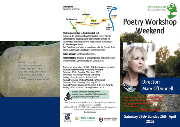 Patrick Kavanagh Centre Poetry Workshop Weekend