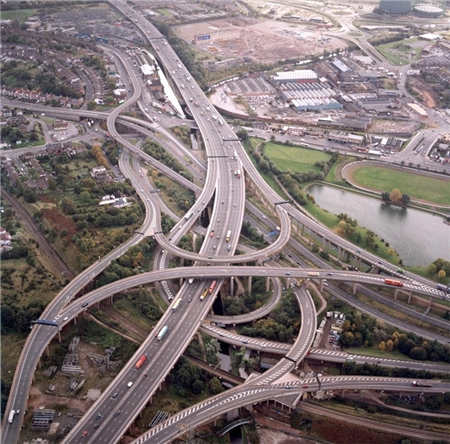 'Spaghetti Junction' on M6, Birmingham Photo: Heritage Explorer