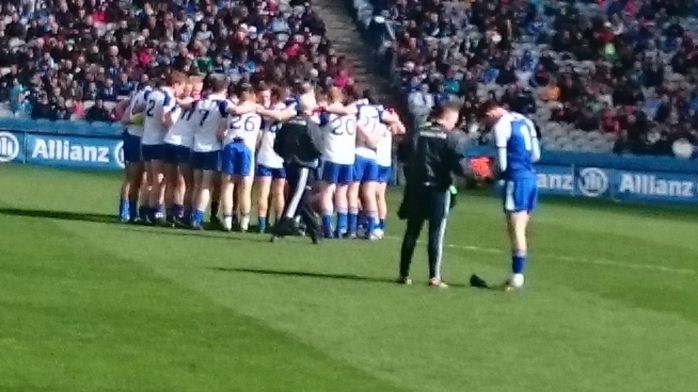 Monaghan huddle before the throw-in Photo: © Michael Fisher