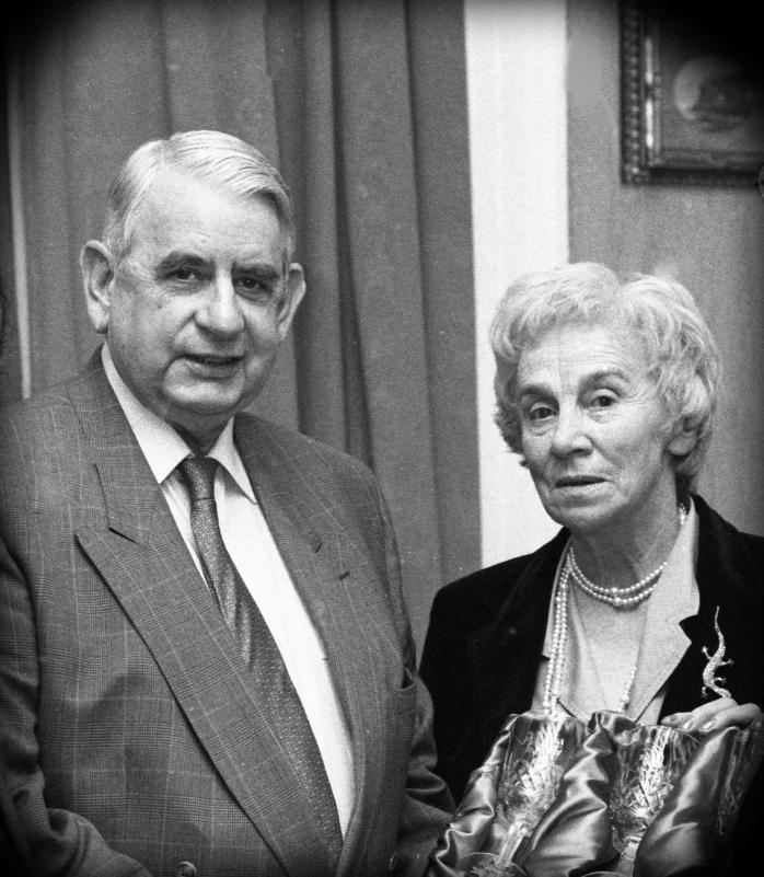 Desmond and Peggy Fisher on the occasion of my father's retirement from the Carlow Nationalist  Photo courtesy of Tom Geoghegan