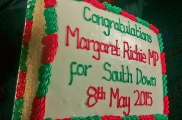The celebration cake for Margaret Ritchie Photo:  © Michael Fisher