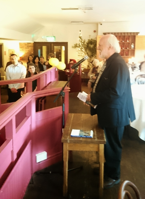 John Horgan speaking about Desmond Fisher Photo:  © Michael Fisher