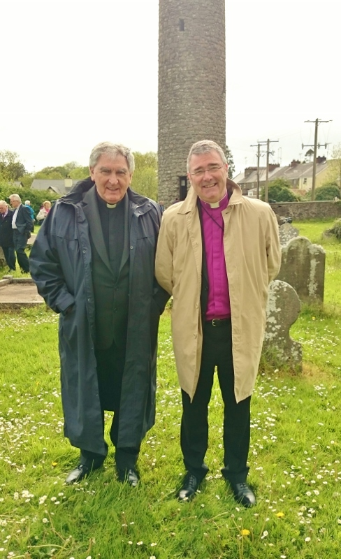 Catholic and Church of Ireland Bishops of Clogher Dr Liam MacDaid and Rt Revd John McDowell at the ecumenical service in Clones  Photo:  © Michael Fisher