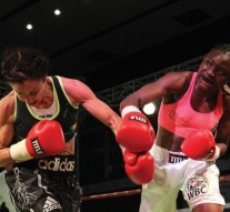 Christina McMahon in action v Catherine Phiri of Zambia  Photo: Lusaka Voice