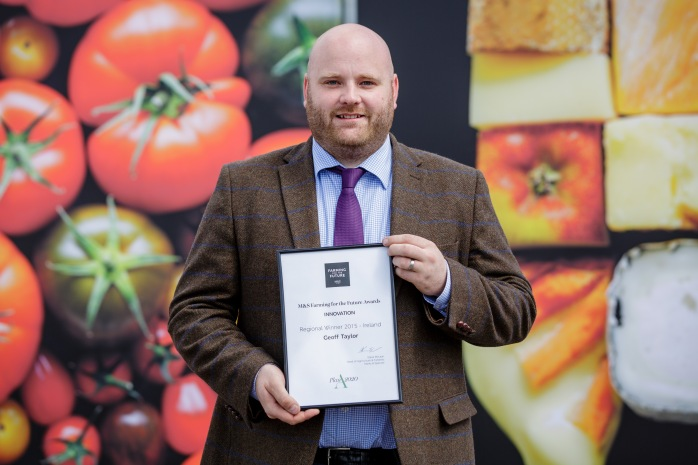 Geoff Taylor, Monaghan Mushrooms, receives M&S Innovation Award