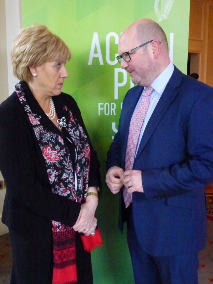 Minister Heather Humphreys T.D. and Minister Ged Nash T.D. at the Carrickmacross jobs forum Photo:  © Michael Fisher