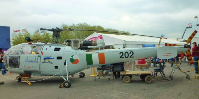 Irish Air Corps Alouette III helicopter of the type used on border duties in Monaghan: part of the Ulster Aviation Society collection at the Maze  Photo:  © Michael Fisher
