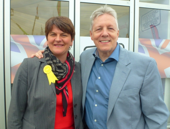 NI Finance Minister Arlene Foster and First Minister Peter Robinson at the DUP Stand   Photo:  © Michael Fisher