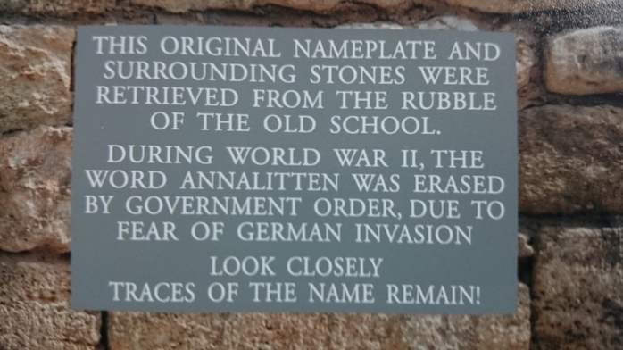 Stone plaque for Annalitten NS celebrations  Photo:  © Michael Fisher