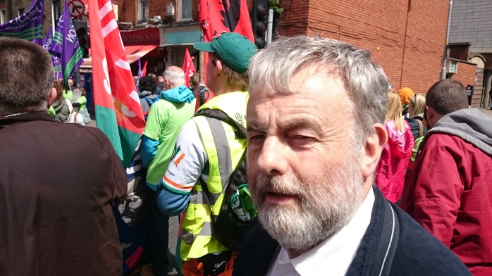 SIPTU General Secretary Jack O'Connor at the Dunnes Stores rally Photo:  © Michael Fisher
