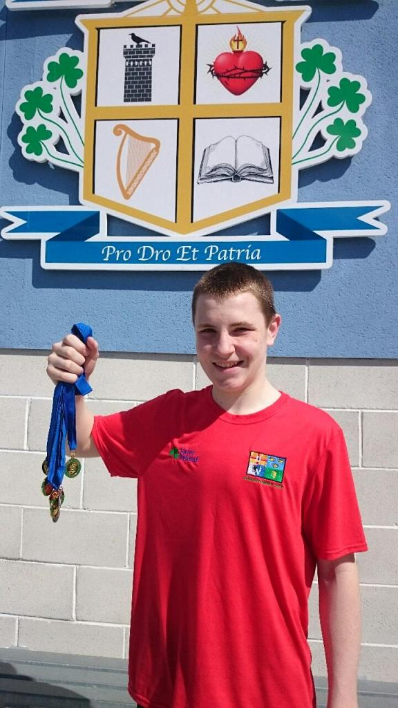 Leinster and Ulster Schools record-breaking swimmer Cathal Kearney from Inniskeen, Co. Monaghan   Photo:  © Michael Fisher