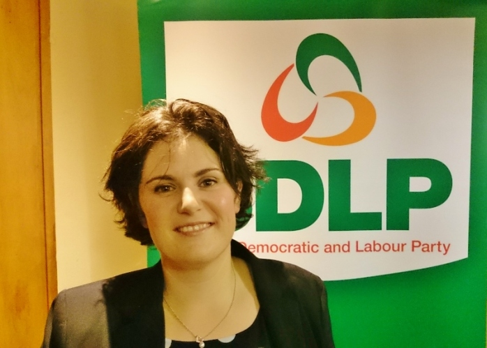 Councillor Claire Hanna  at the SDLP Assembly selection meeting in South Belfast  Photo:  © Michael Fisher