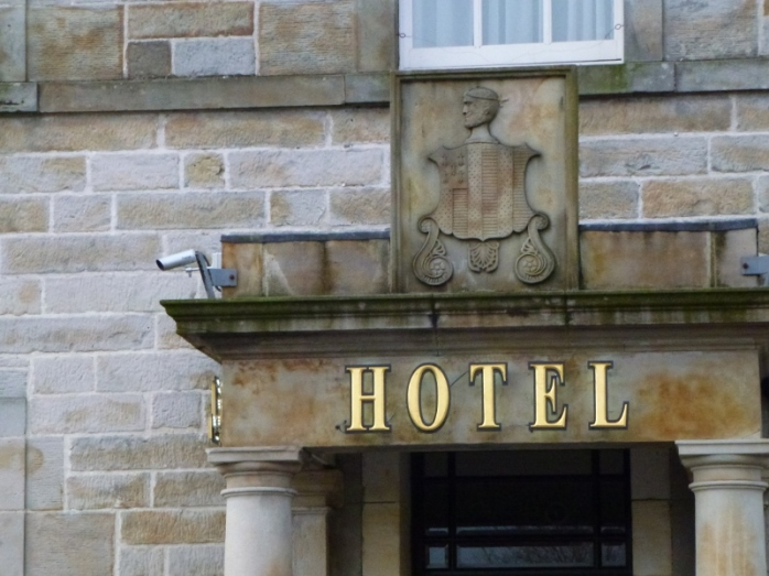 The Shirley Arms Hotel with Shirley family crest, Carrickmacross  Photo:  © Michael Fisher