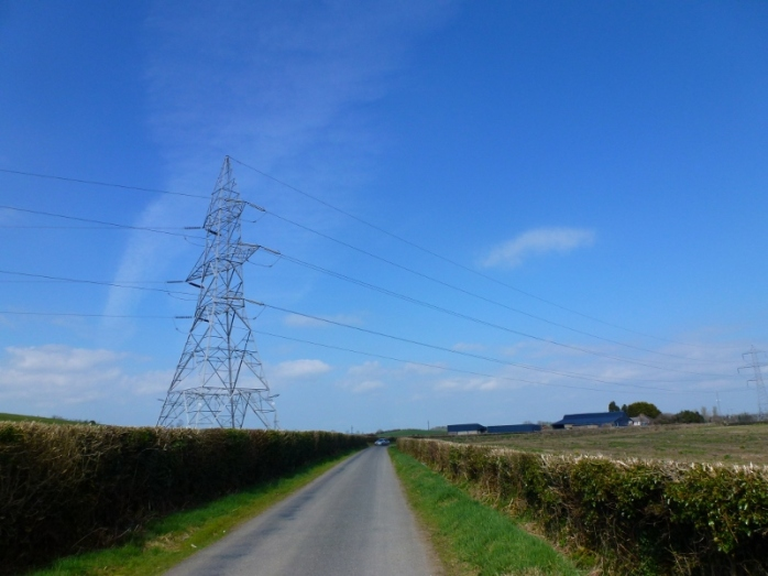 EirGrid pylon on farmland at Ballykelly in County Louth  Photo:  © Michael Fisher