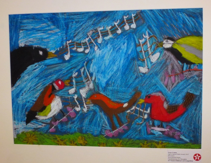 "Grace Conlon's painting ""Bird Tunes"" won a Special Merit award in Category F.   Photo:  © Michael Fisher"