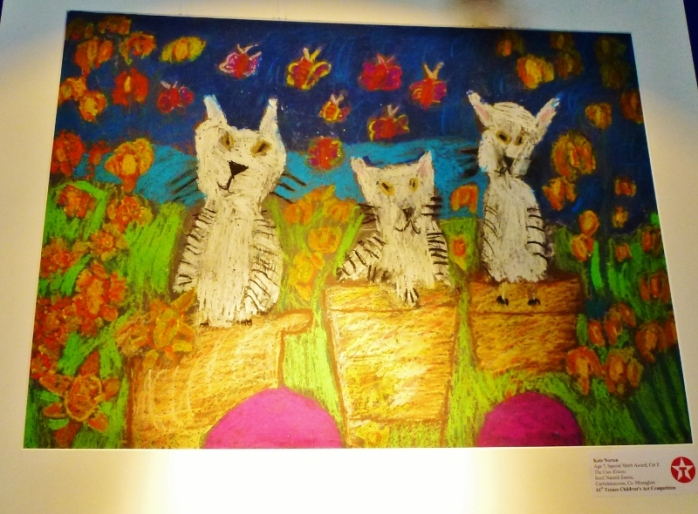"Kate Norton's painting ""The Cute Kittens"" won a Special Merit award in Category E.   Photo:  © Michael Fisher"