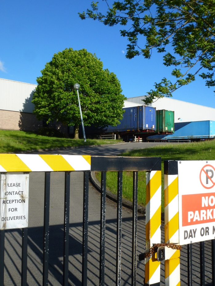 Gates Locked at Former Bose Plant, Carrickmacross  Photo:  © Michael Fisher