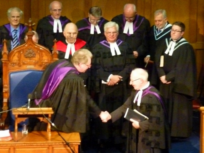 Reverend Ian McNie is installed as Presbyterian Moderator  Photo:  © Michael Fisher