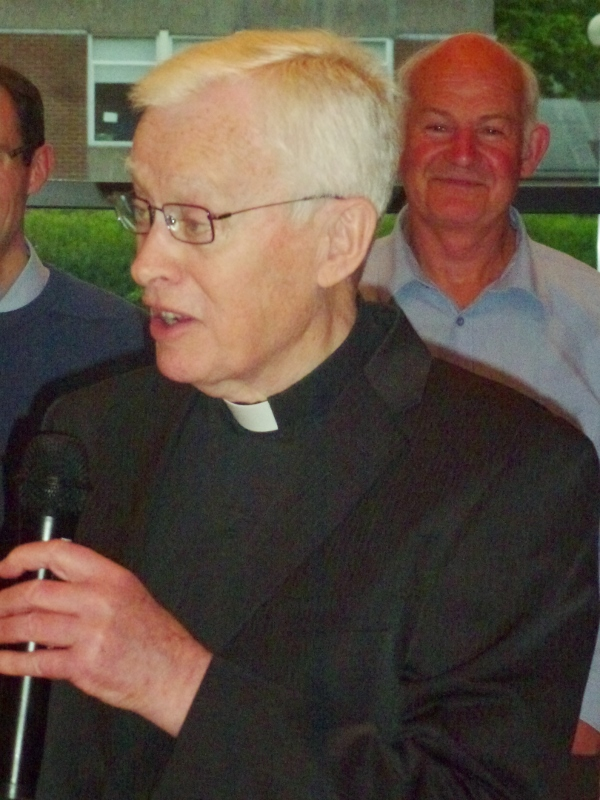 Canon Brian McCluskey at the celebration marking his 55th anniversary as a priest. Photo:  © Michael Fisher