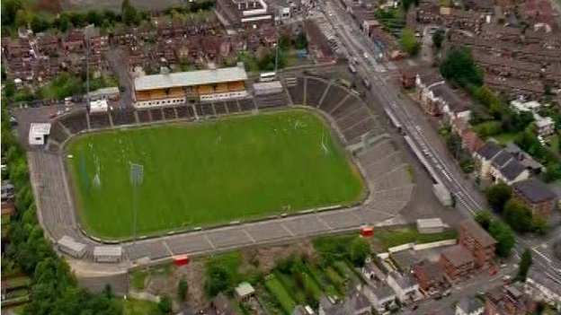 Casement Park GAA ground in West Belfast