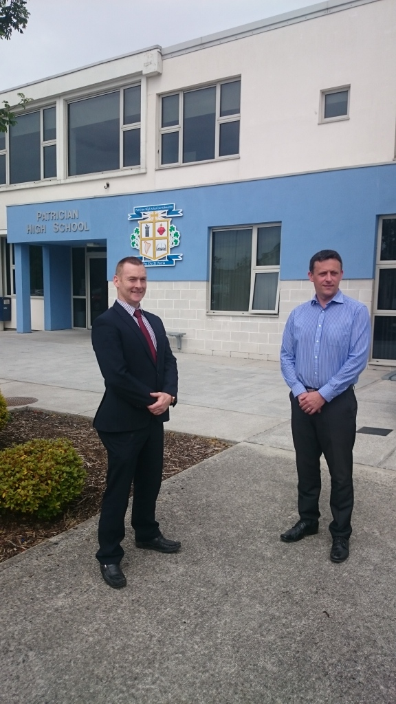 Patrician High School Principal Joe Duffy and Deputy Principal Sean Rafferty  Photo:  © Michael Fisher
