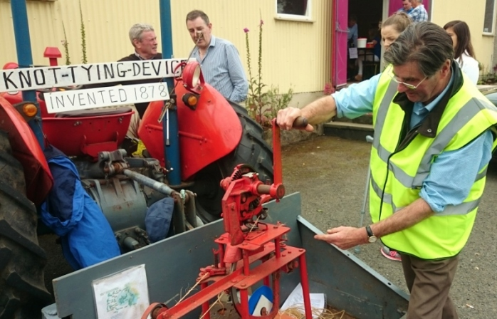 Demonstrating the knot-tying machine at Ballinode open day Photo:  © Michael Fisher