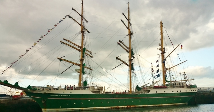German ship Alexander von Humboldt in the Yord Dock Photo:  © Michael Fisher