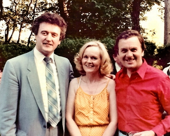 Eily O'Grady with her husband Frank Patterson (right) and singer Martin Flynn in the USA  Photo: Martin Flynn website