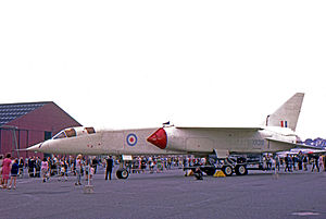 The only TSR-2 to fly, XR219, in anti-flash white finish, at BAC's Warton factory in 1966 Photo: wikipedia