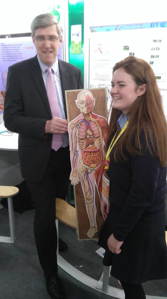 NI Education Minister John O'Dowd MLA at the exhibition at the RDS