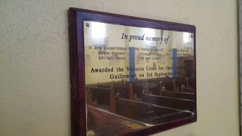 Plaque Inside Church